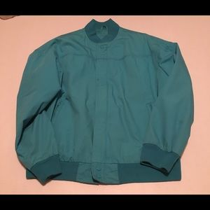 Arnold Palmer Teal Blue Medium Jacket Vintage
